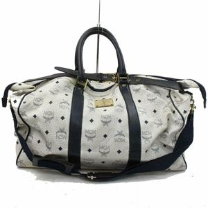 MCM Visetos Duffle Boston with Strap 870916